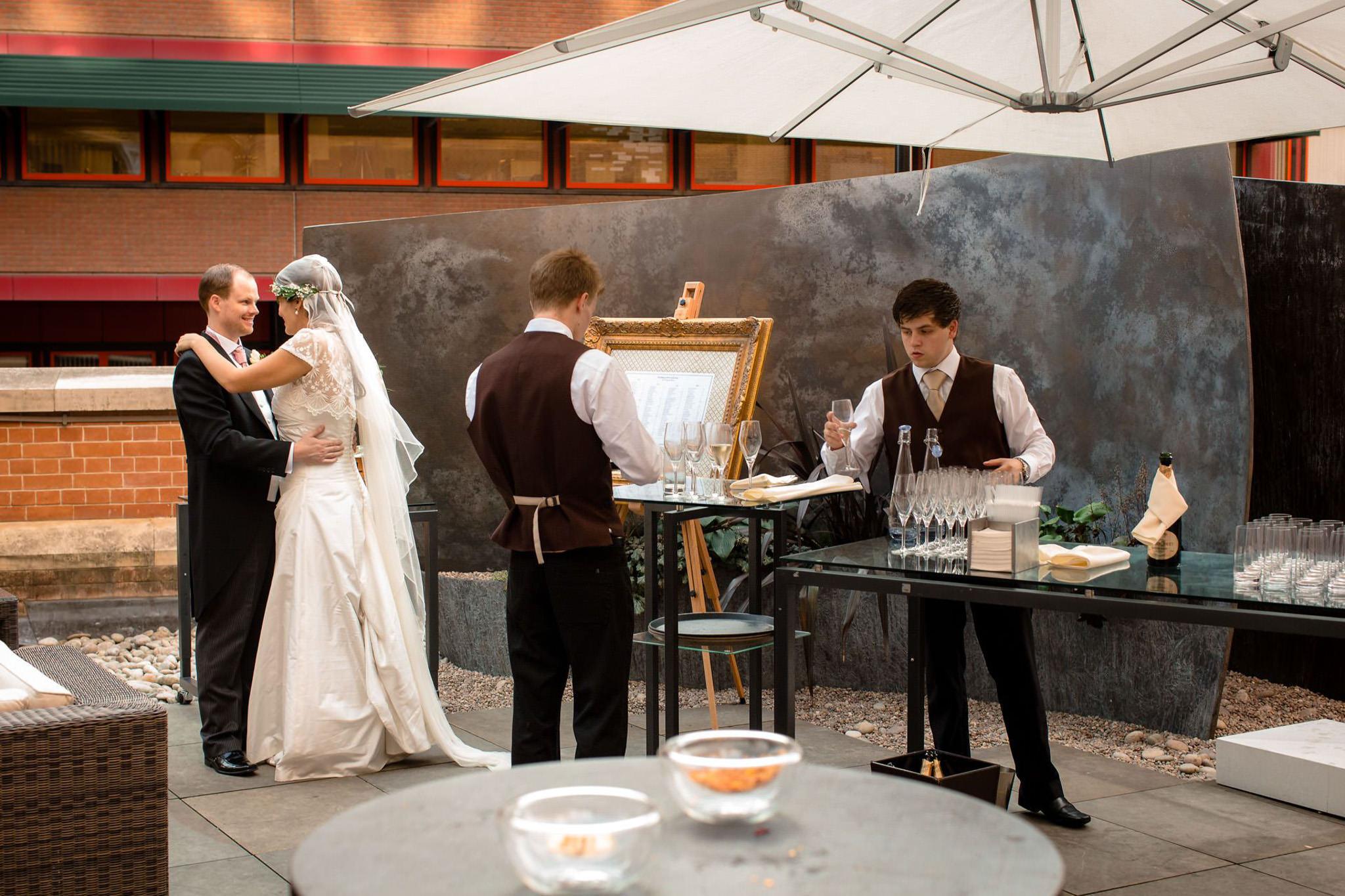 St. Pancras hotel wedding reception food