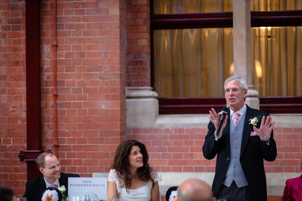 St. Pancras hotel wedding father of the bride speech