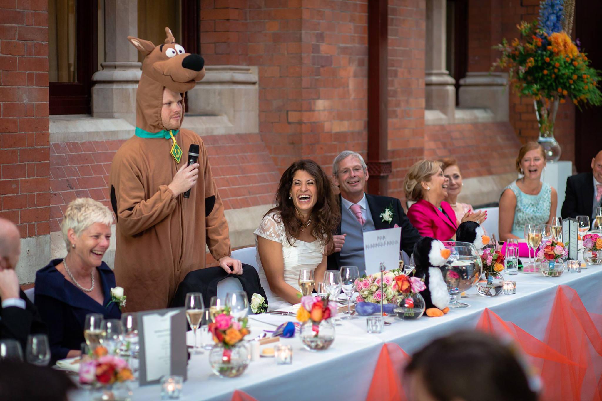 St. Pancras hotel wedding groom speech