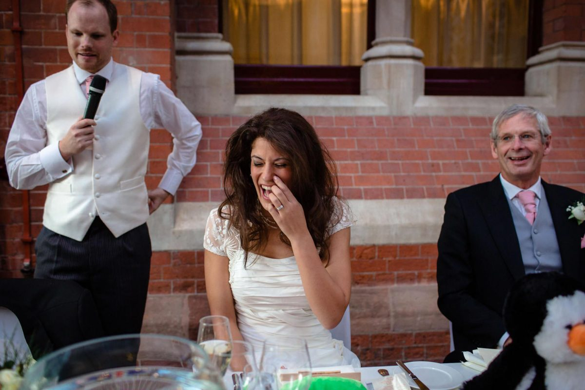 St. Pancras hotel wedding bride reaction