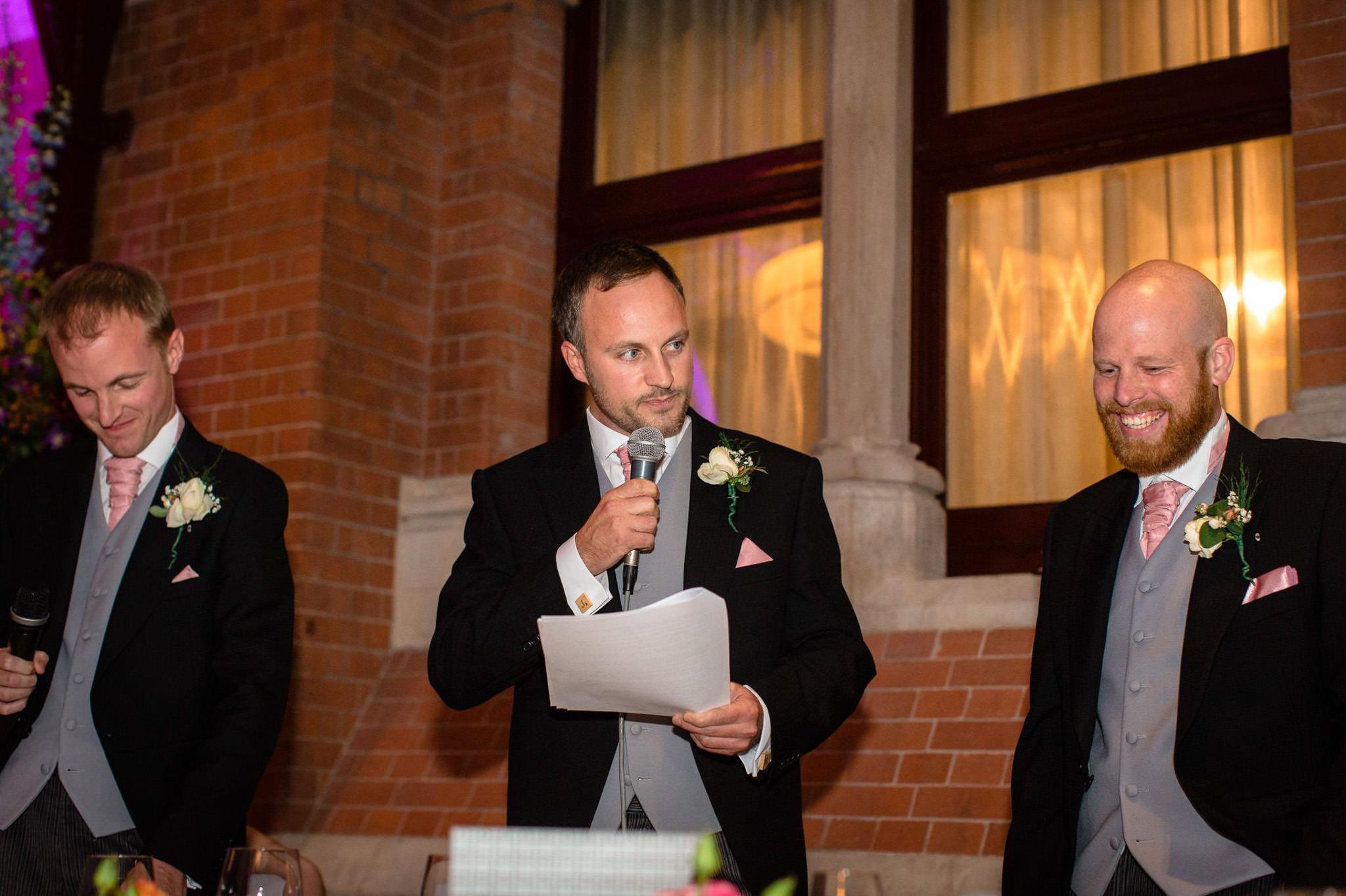 St. Pancras hotel wedding best man speech