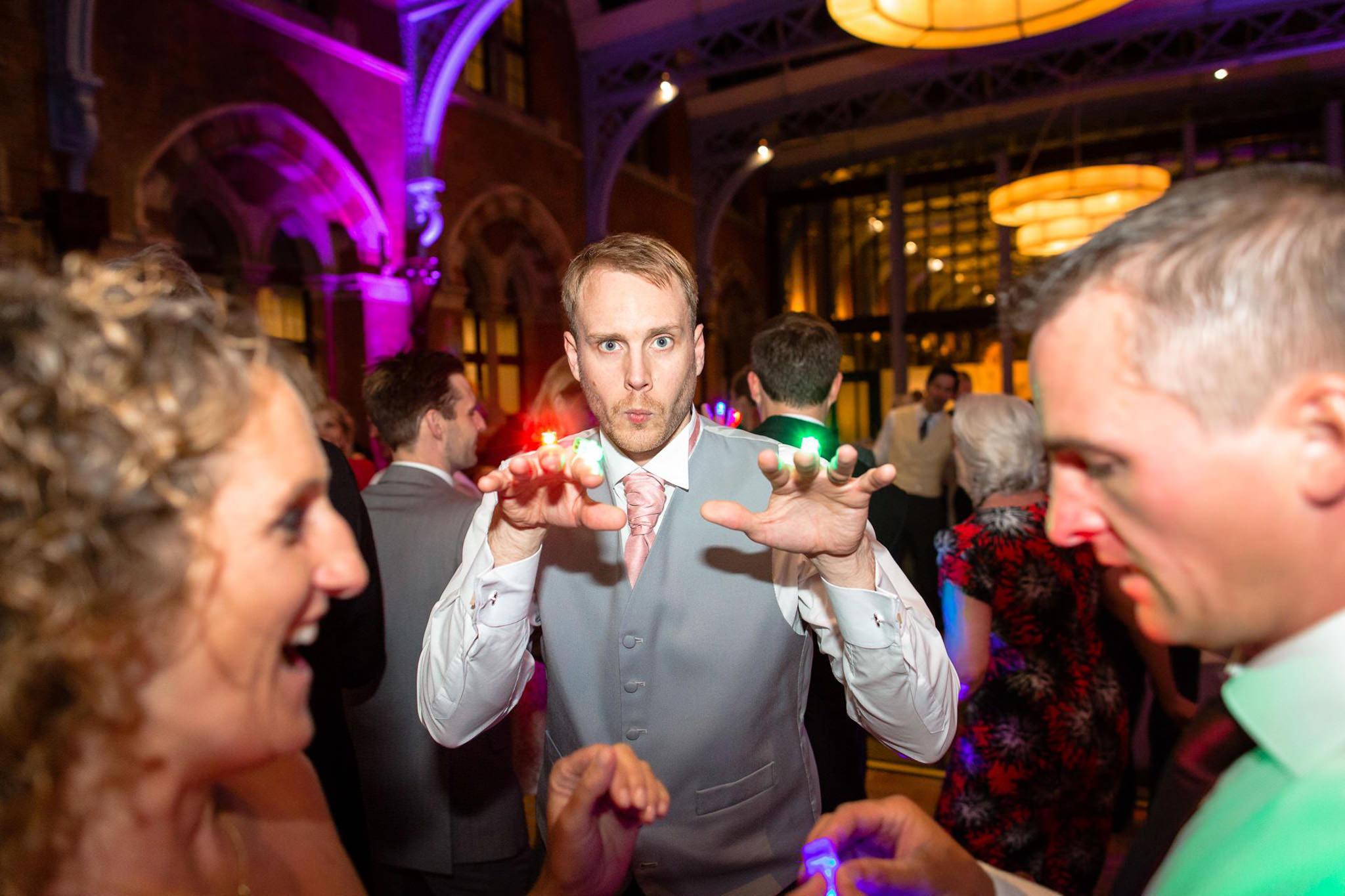 St. Pancras hotel wedding party