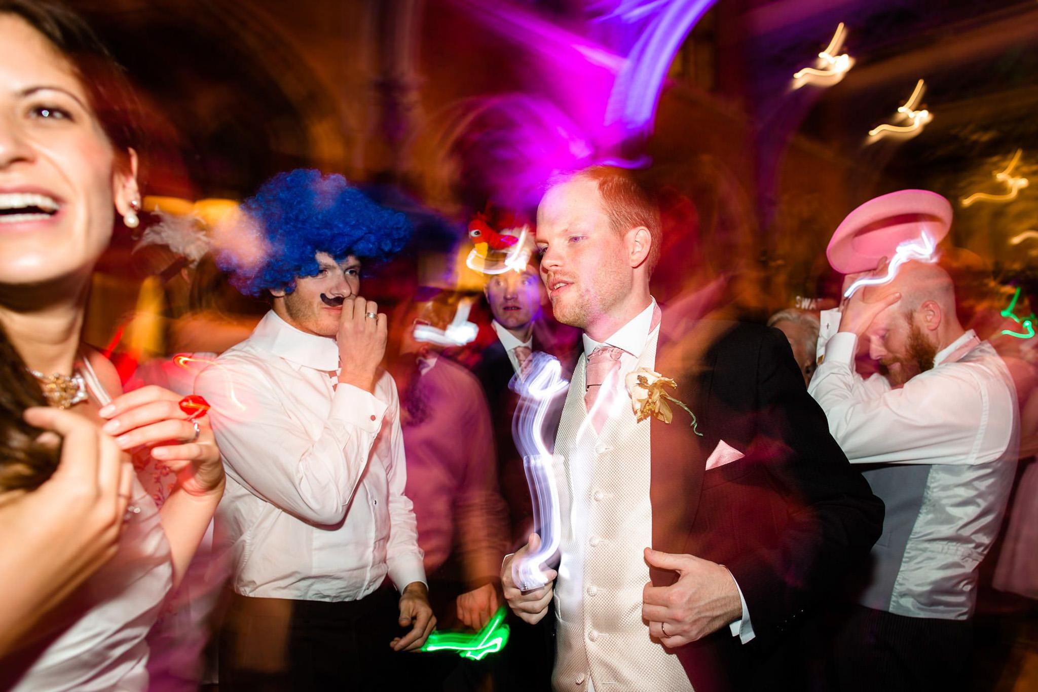 St. Pancras hotel wedding groom dancing