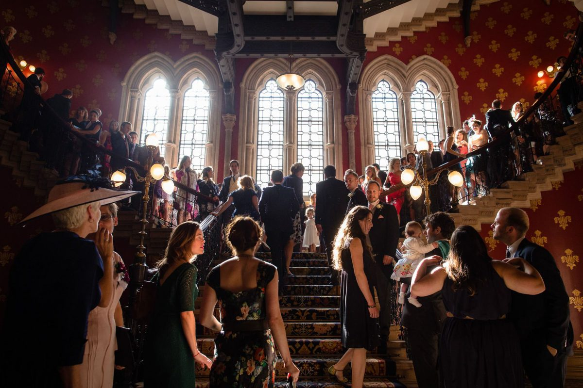 St. Pancras hotel wedding the staircase