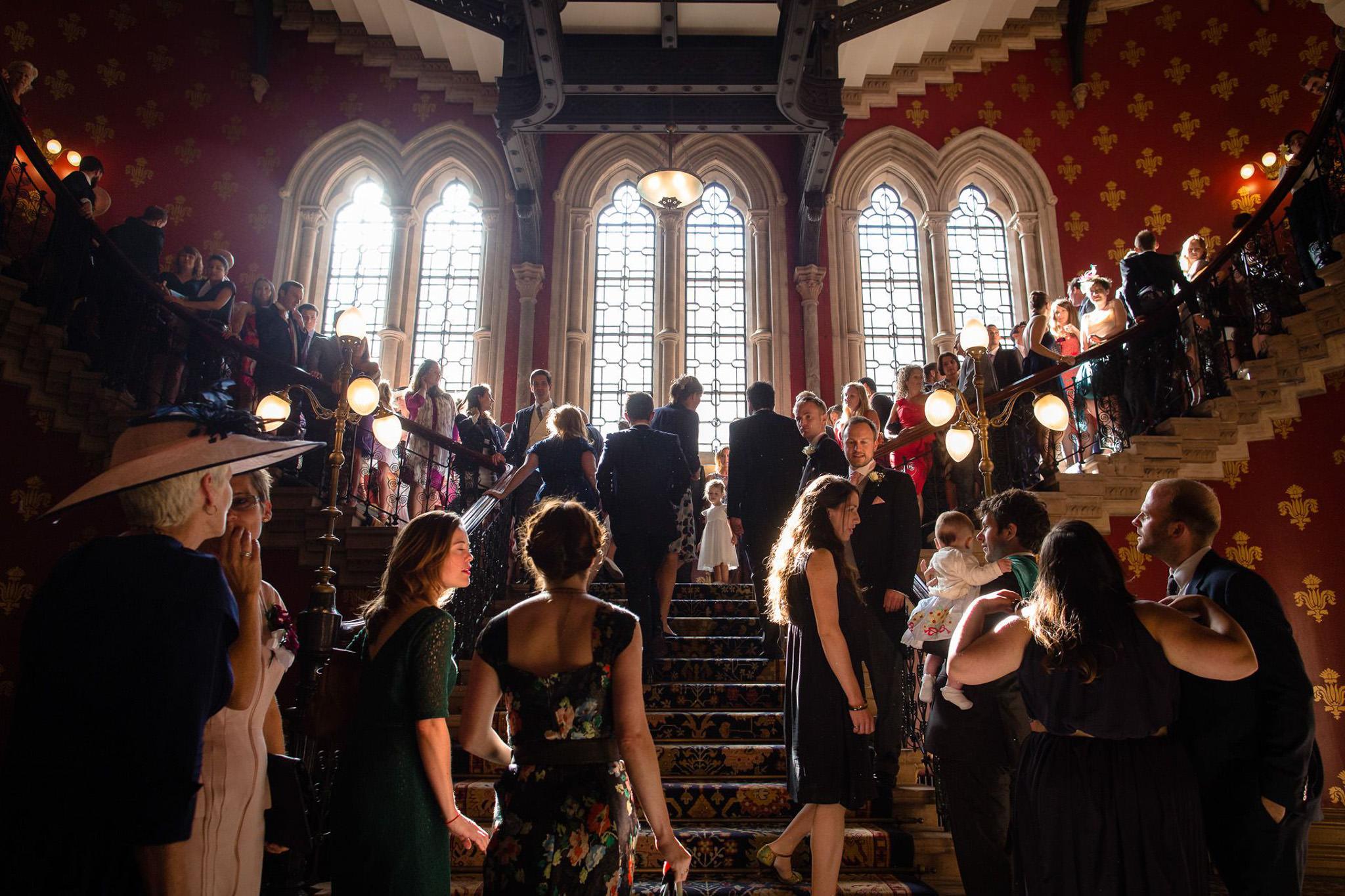 St. Pancras hotel wedding the staircase