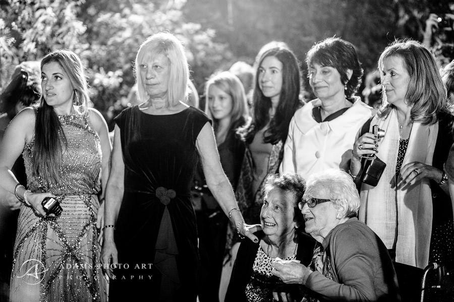 wedding guests at destination wedding