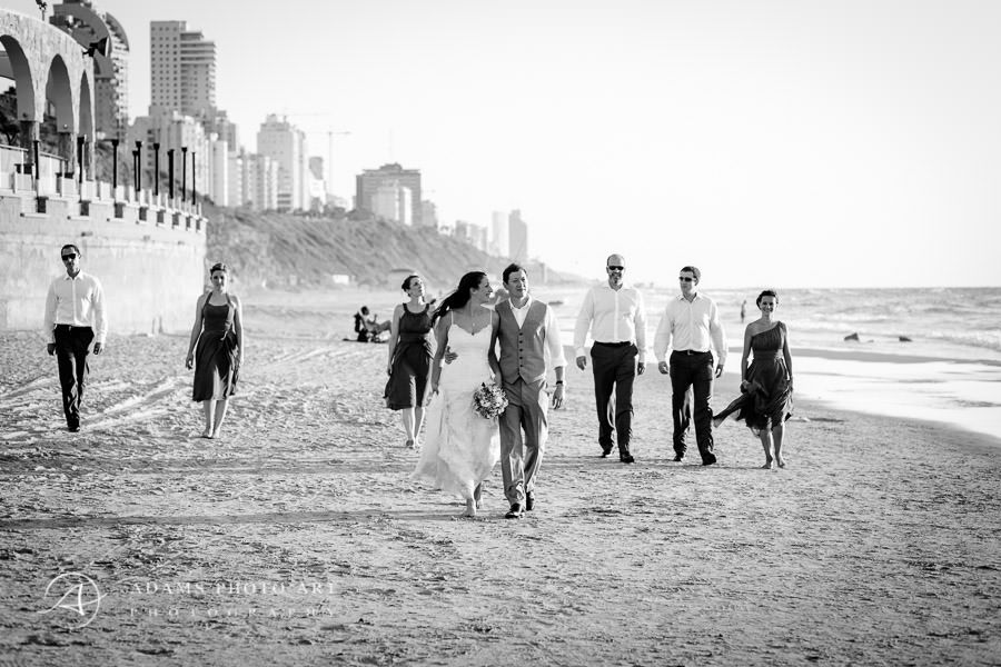 wedding photo session on the beach