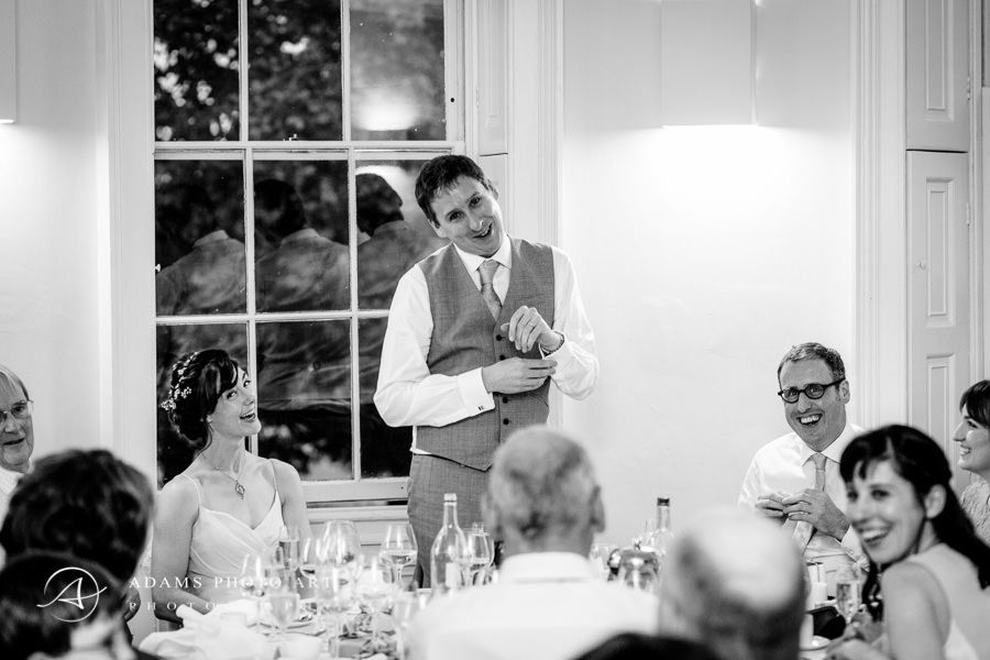 black and white photography from the contemporary wedding in clissold house