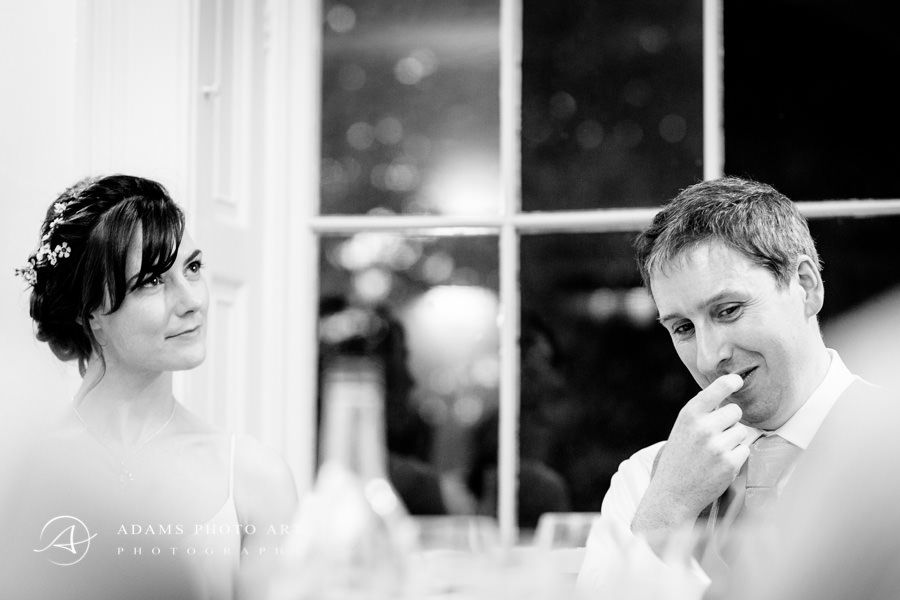 married couple at their wedding the black and white wedding photography by adam szczepanski
