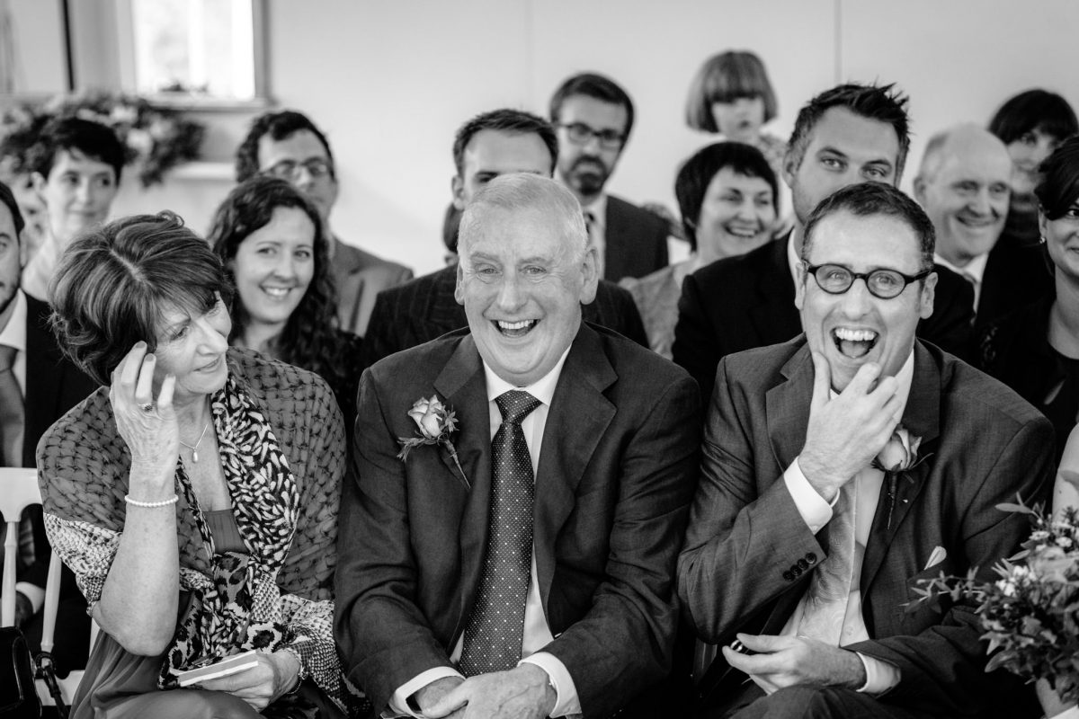 Clissold House wedding family smiling