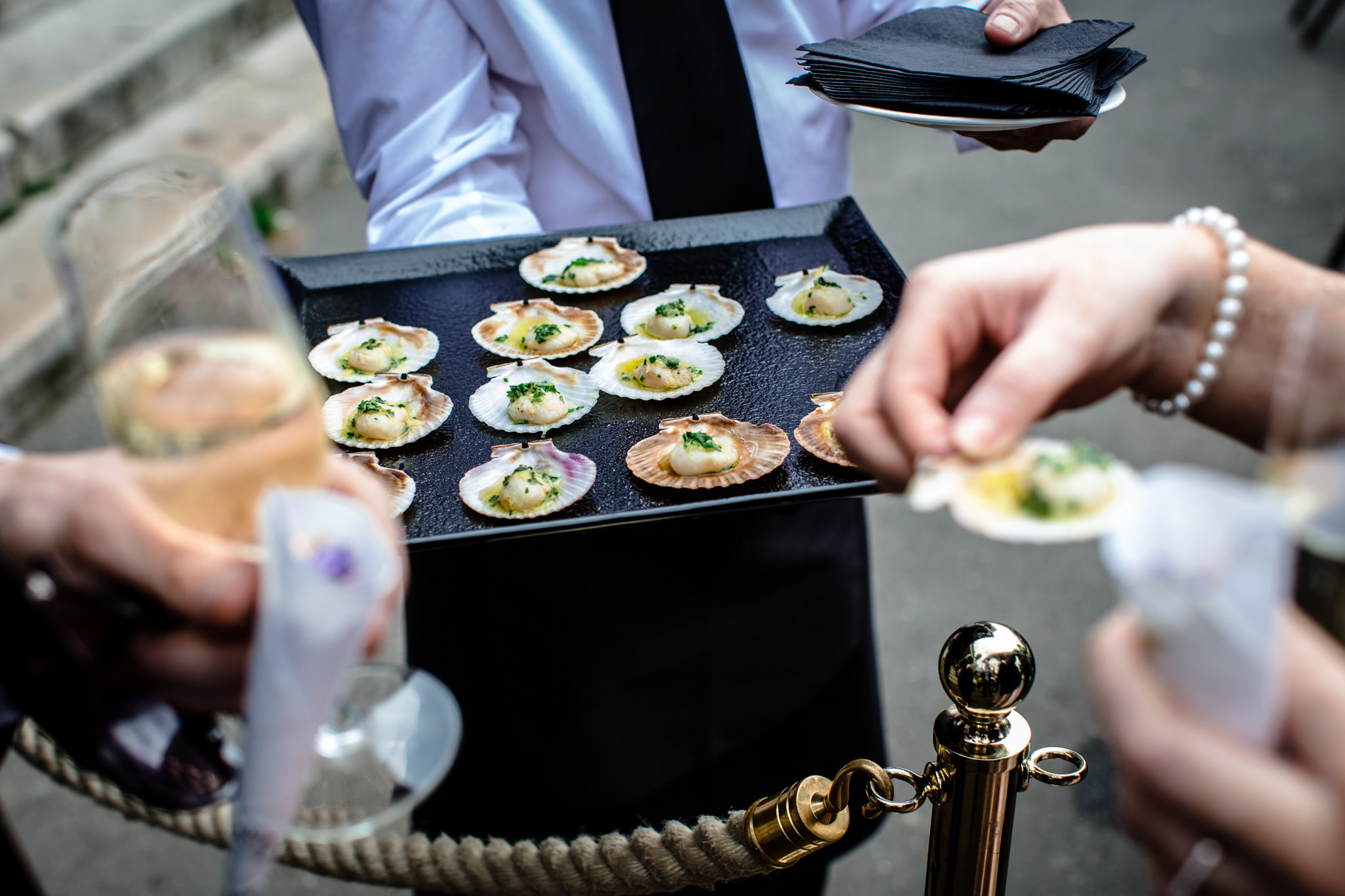 Clissold House wedding canapes