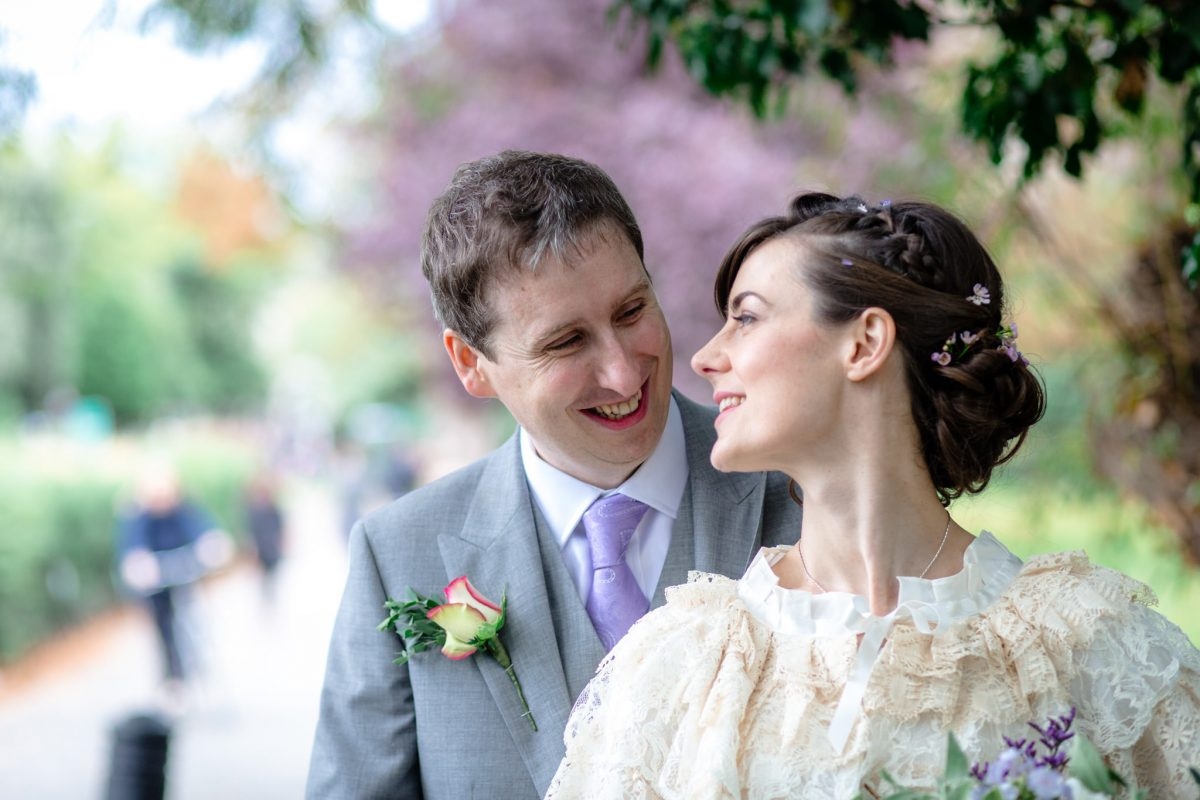 Clissold House wedding couple portrait