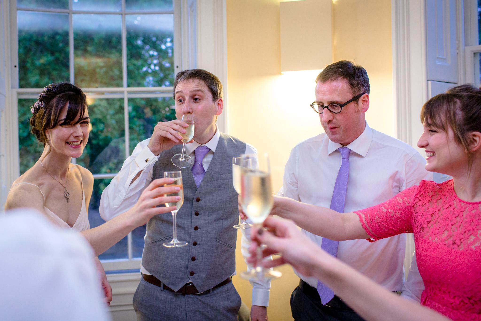Clissold House wedding toast