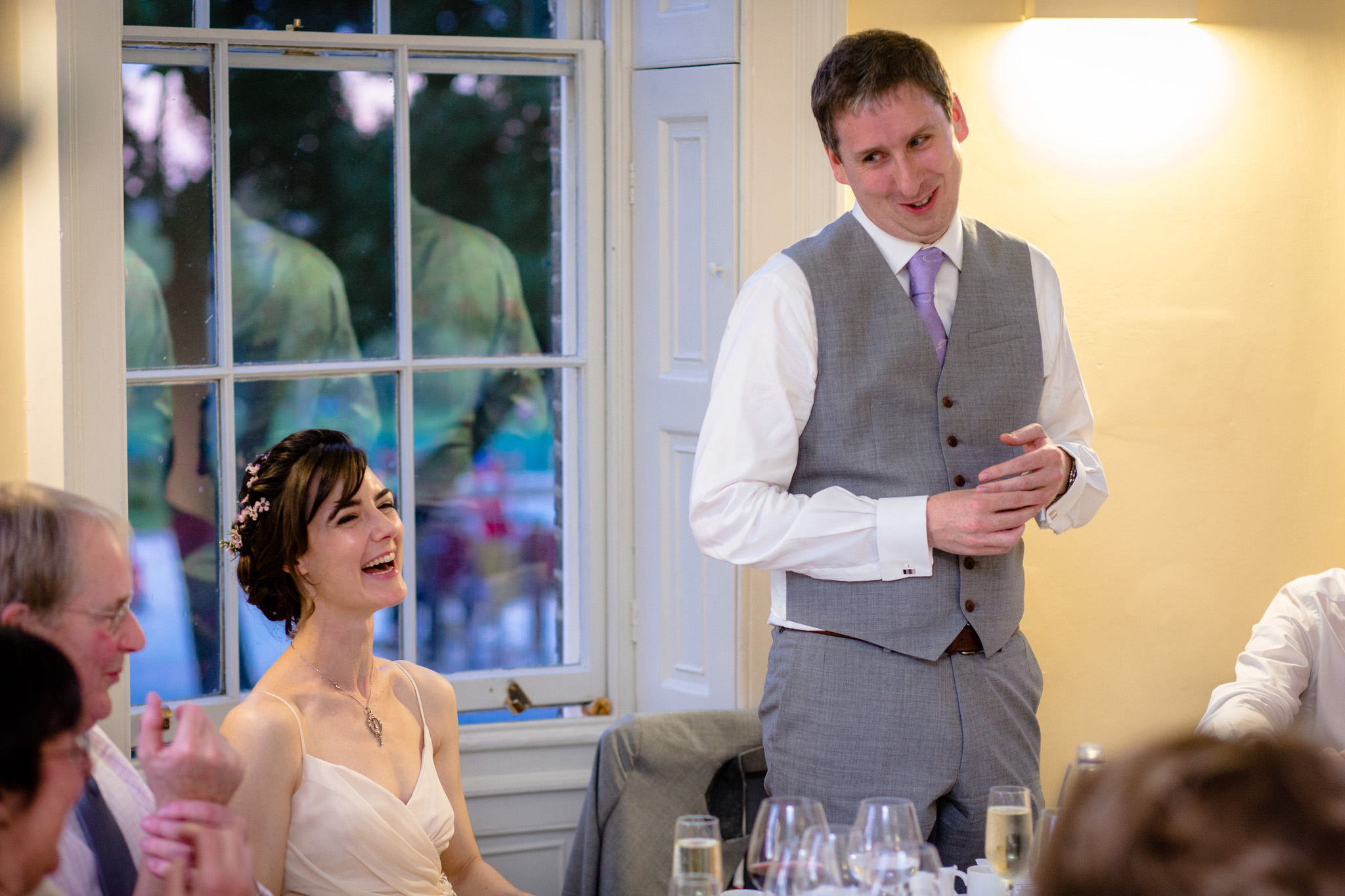 Clissold House wedding groom speech