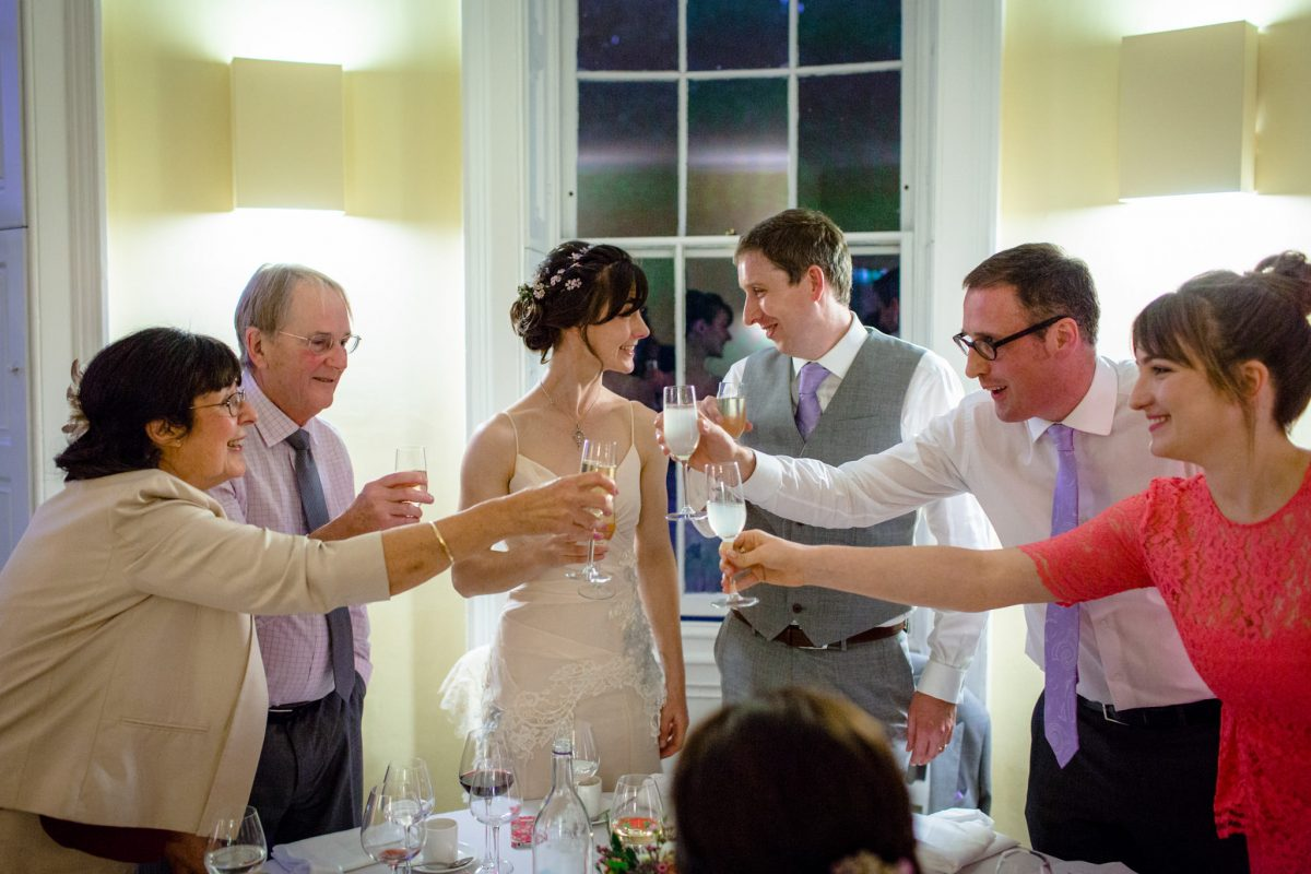 Clissold House wedding toast at the top table