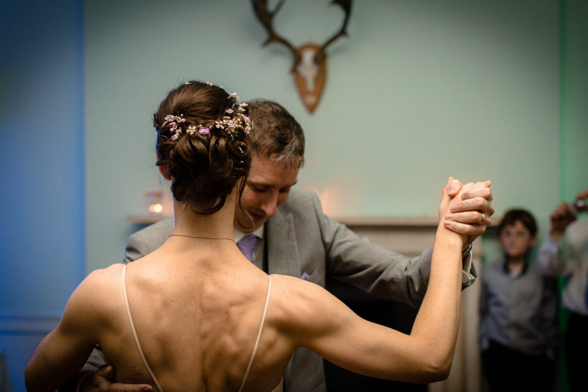 Clissold House wedding groom and bride dance