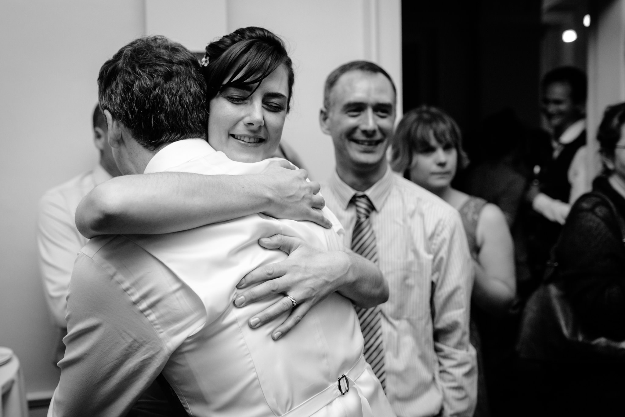 Clissold House wedding couple hug