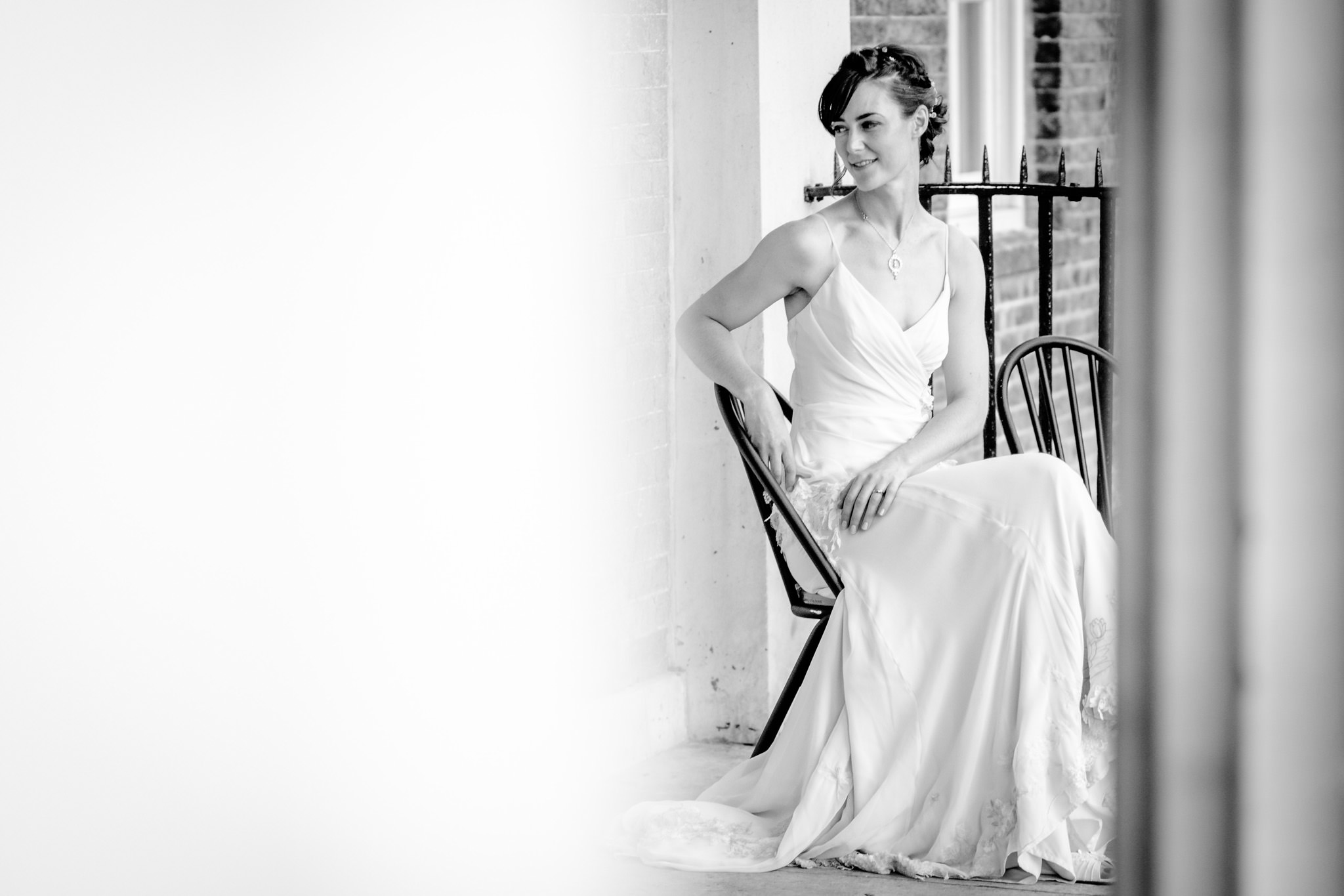 Clissold House wedding bridal portrait