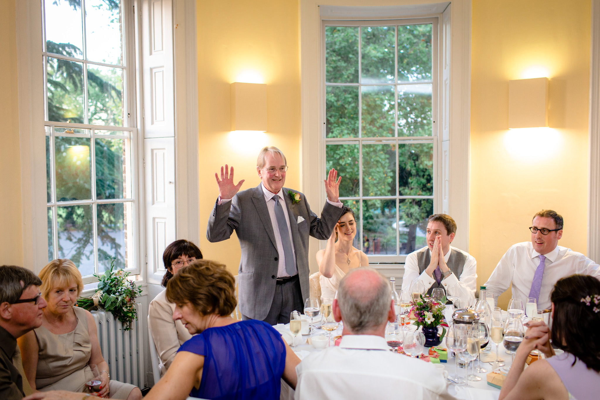 Clissold House wedding father of the bride speech