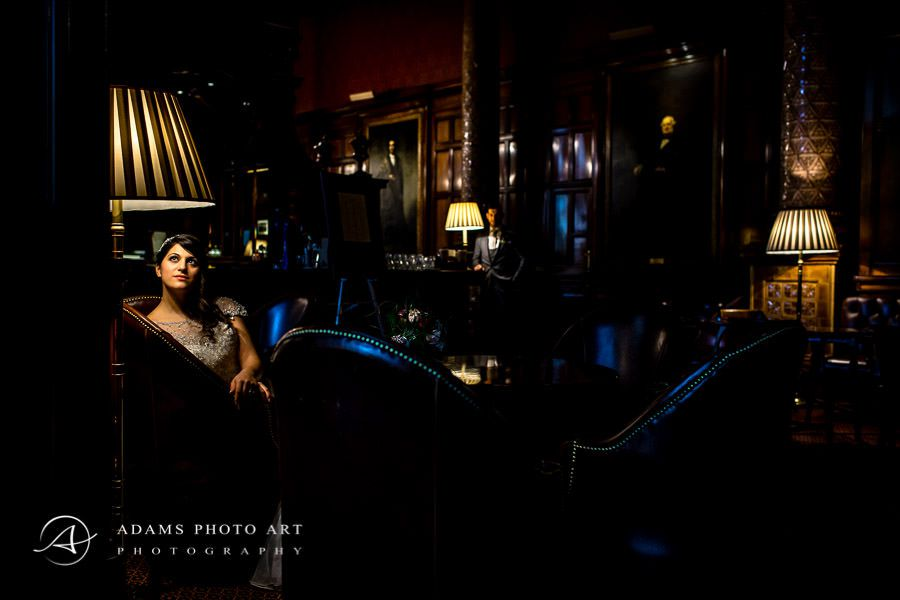romantic and dark photo postrait of the bride laura