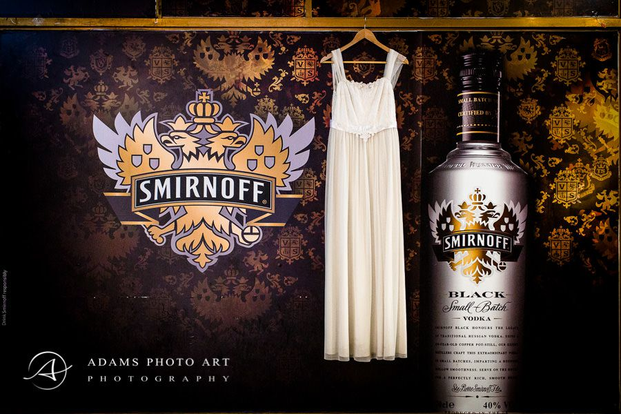 smirnoff vodka and the wedding dress