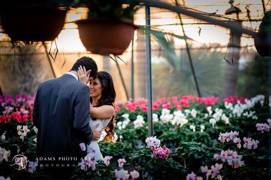 romantic photo portrait among the flowers
