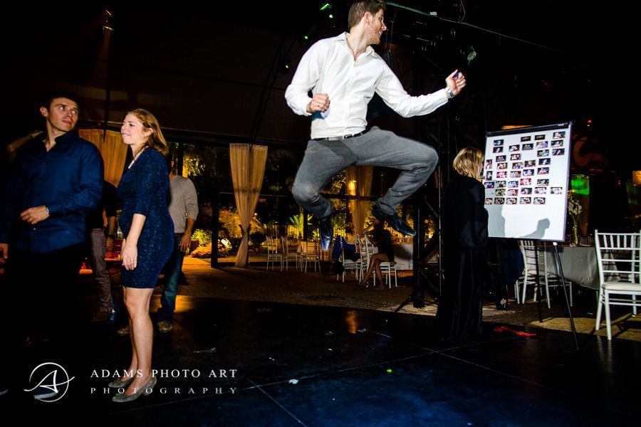 guests jumping