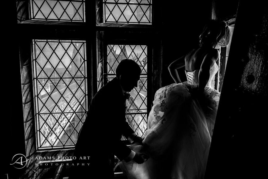 reportage picture from the london wedding day