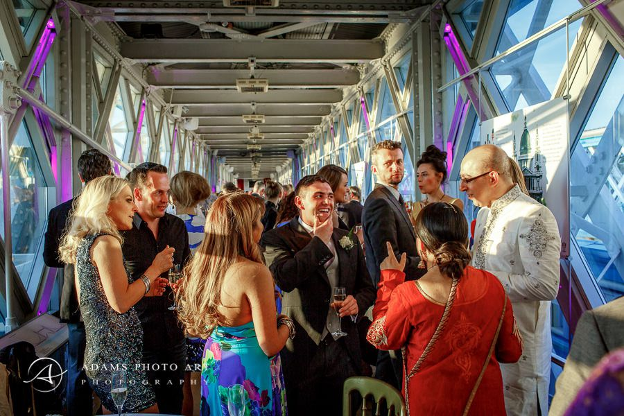 colorful picture from the london wedding party