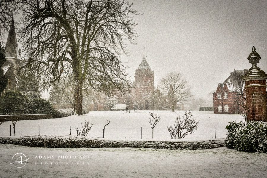 The Elvetham Hotel in Hampshire in the winter