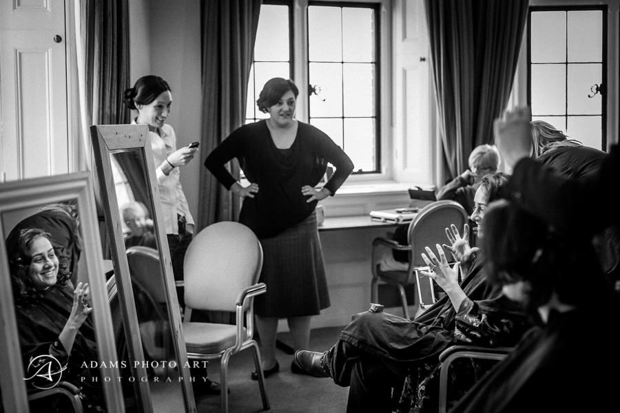 women talking before the wedding at the brides family house