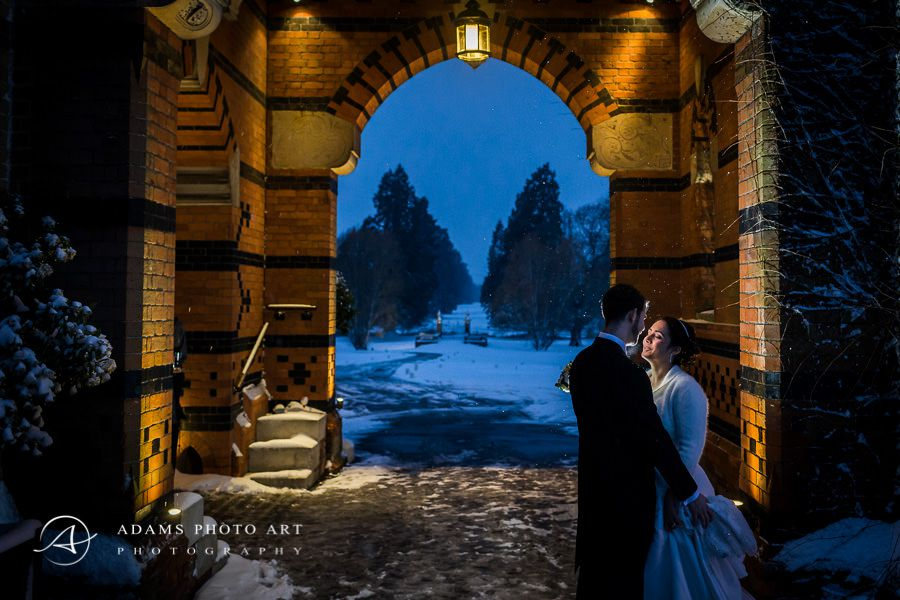 winter wedding photo session of sam and roni in hampshire