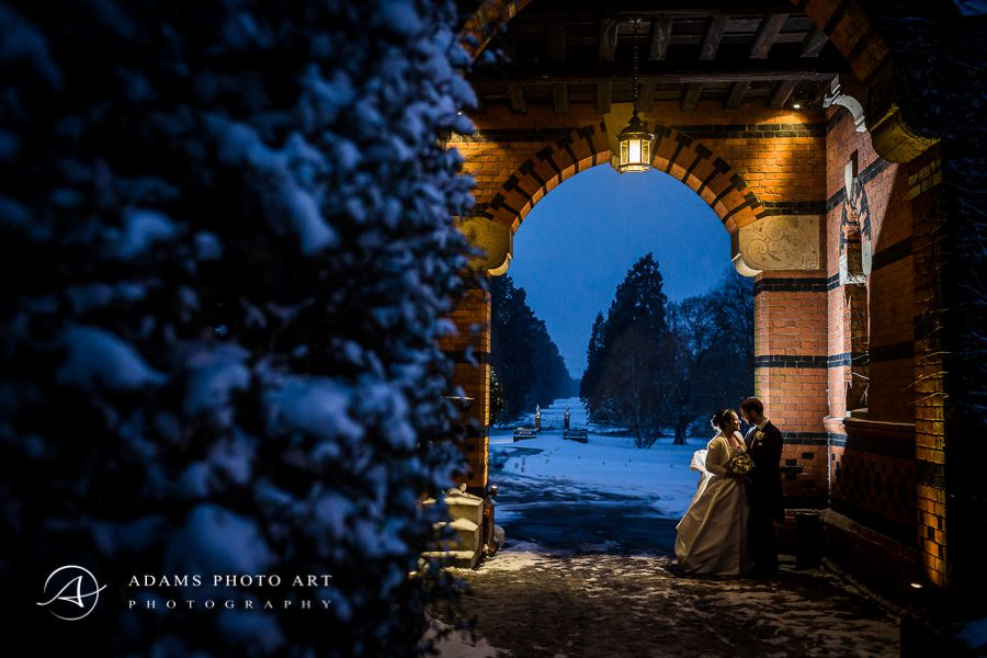 romantic wedding photography in hampshire in winter