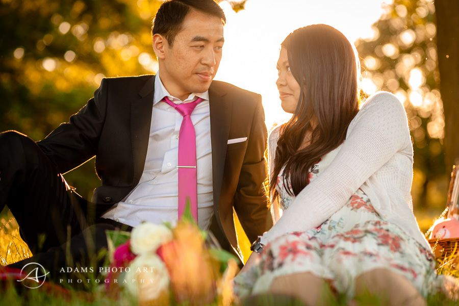 engagement photo session in the park