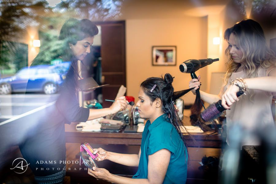 Northbrook Park Wedding Photographer brides haircut