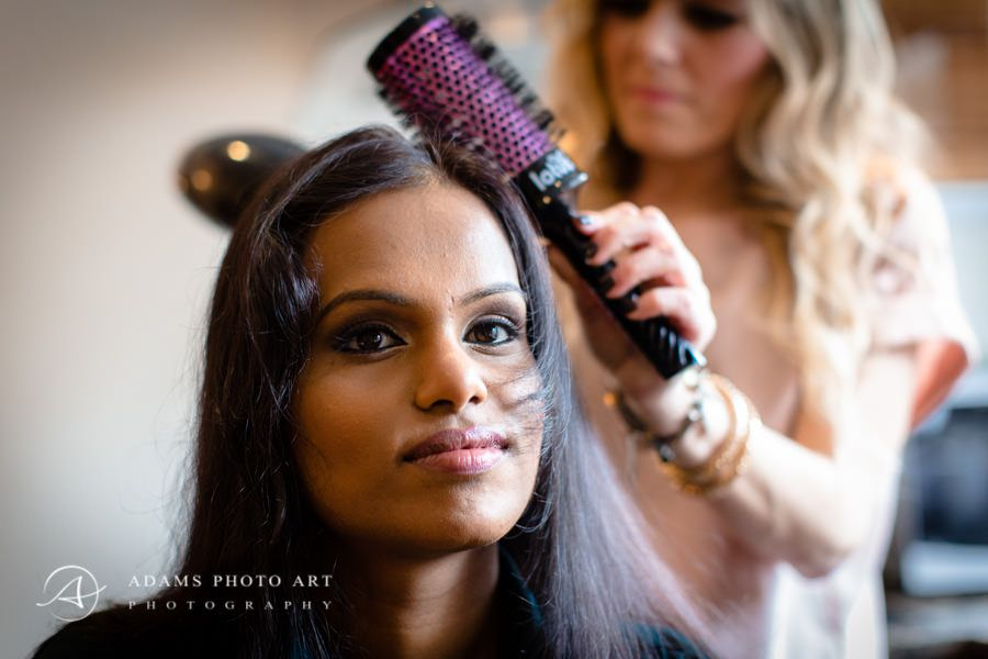 Northbrook Park Wedding Photographer tamil wedding preparations in london