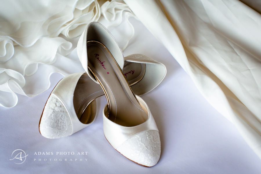 Northbrook Park Wedding Photographer white wedding shoes