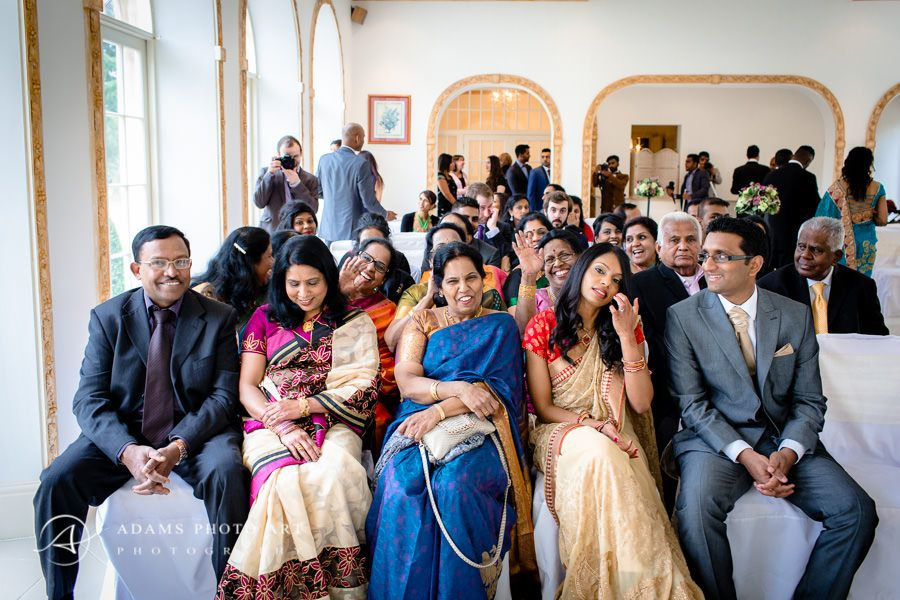 tamil guests at the wedding ceremony