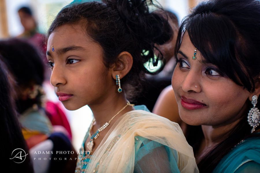 tamil woman with daughter at the wedding