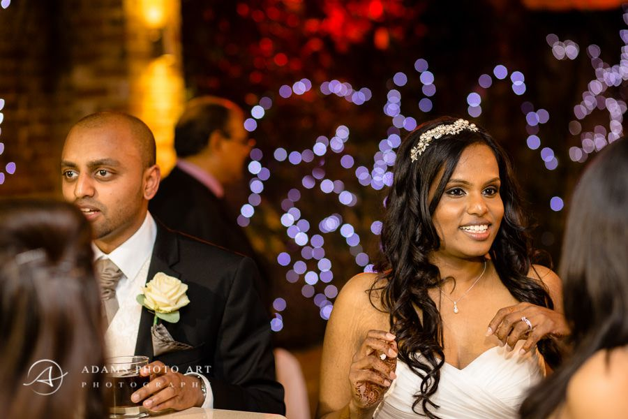 tamil married couple at the wedding party in london