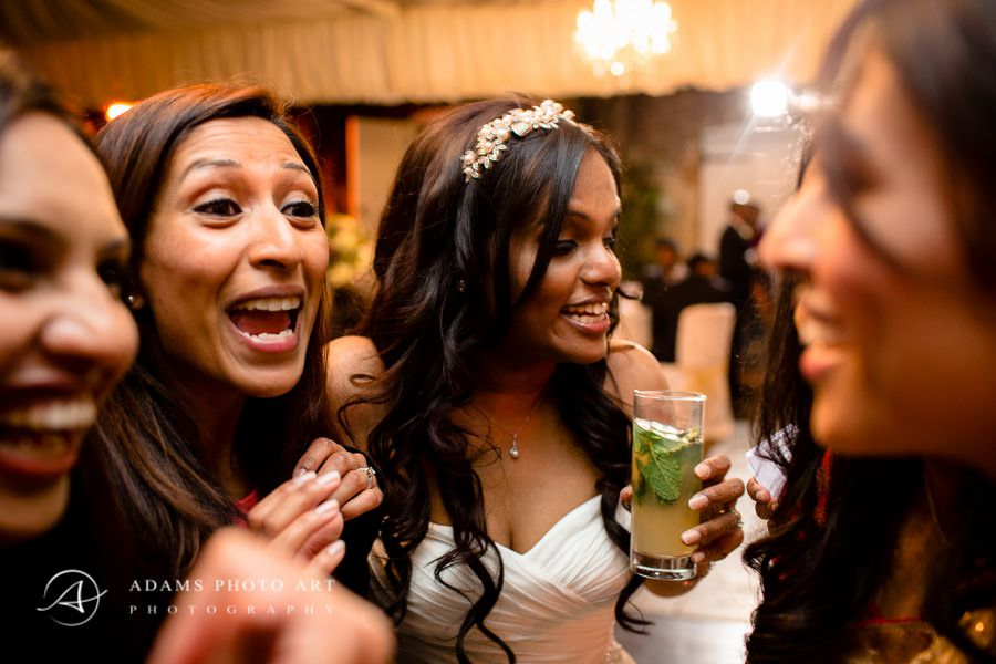 bride with her friends at the wedding