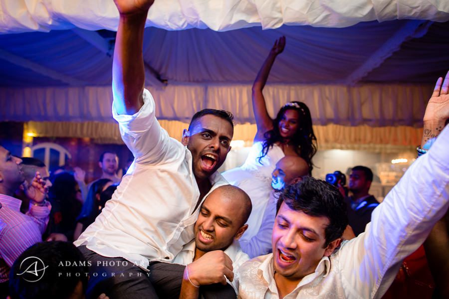 men having fun at the wedding party
