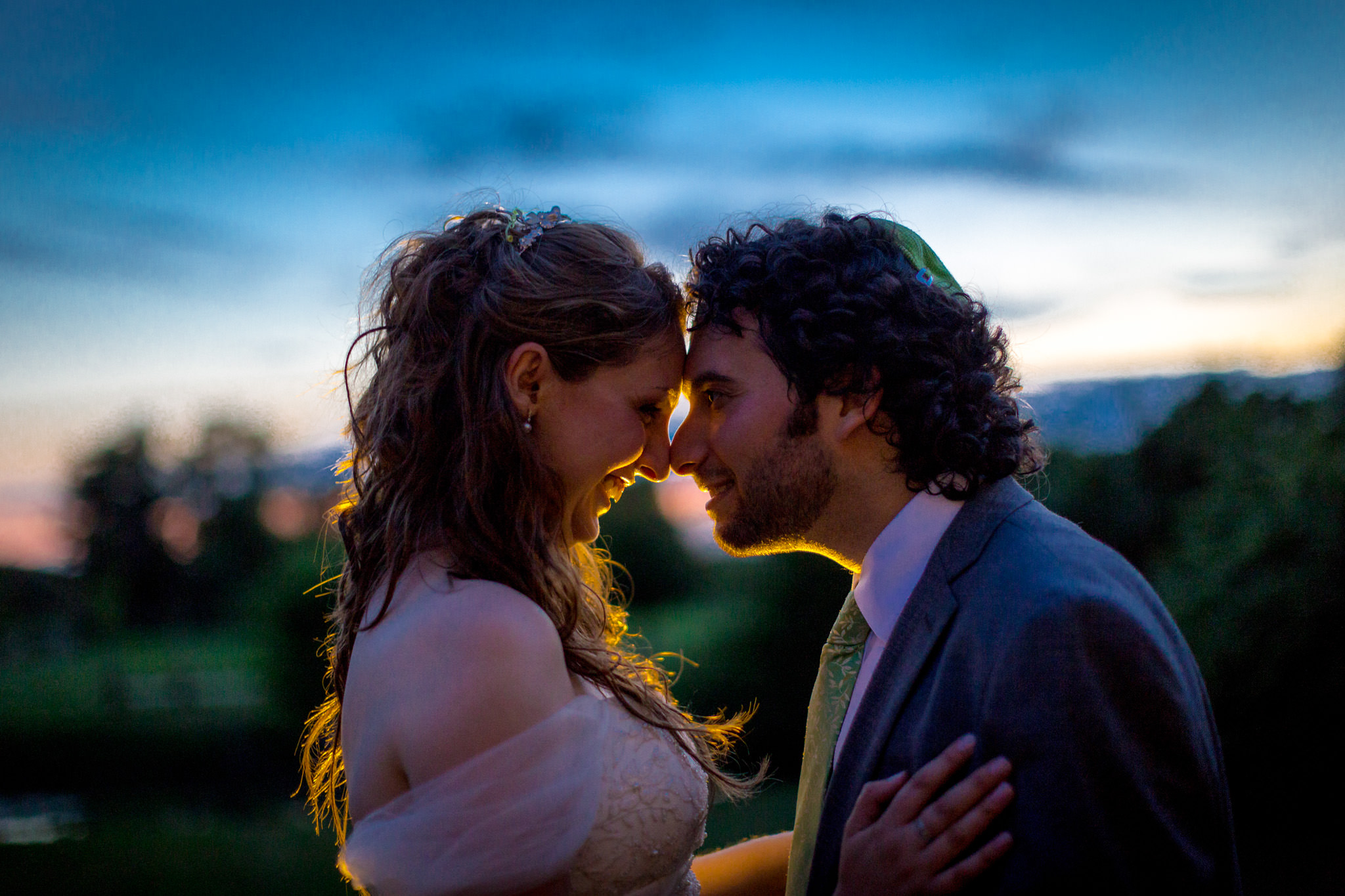 The Reid Rooms Wedding Photographer magic hour portrait