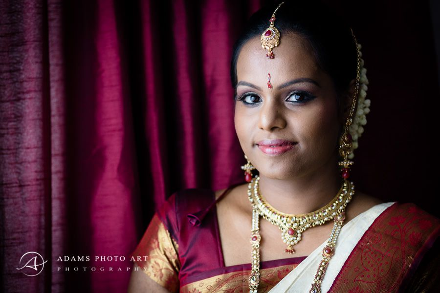tamil woman during the asian wedding