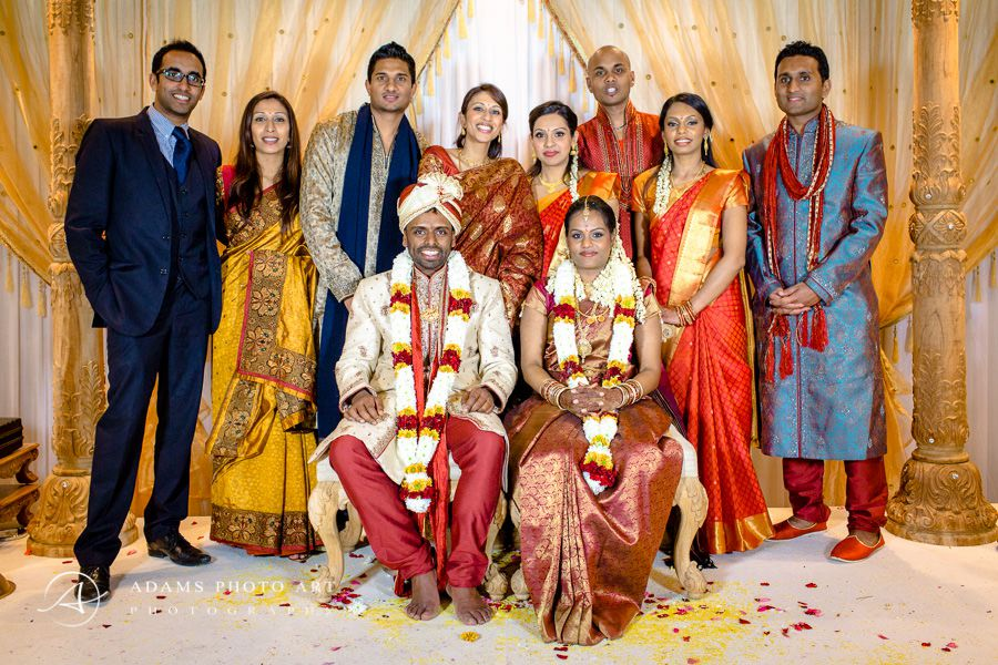 bharkavy and edwin and wedding guests