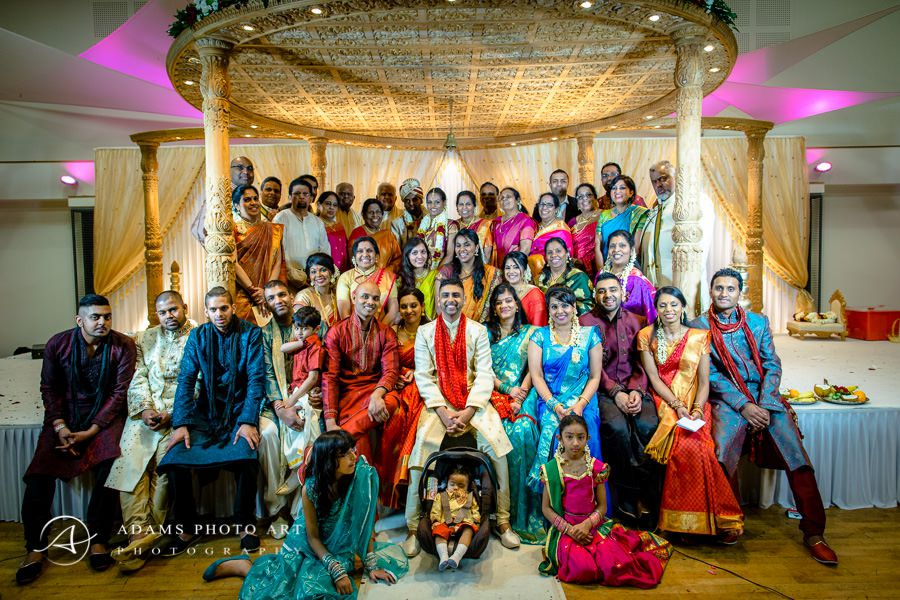 guests on the bharkavy and edwin asian wedding