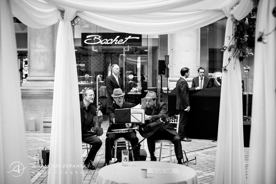 musicians at the wedding party