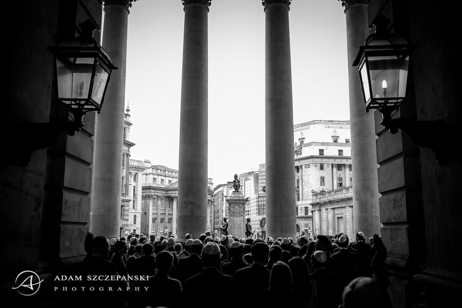 wedding photography from the the royal exchange london
