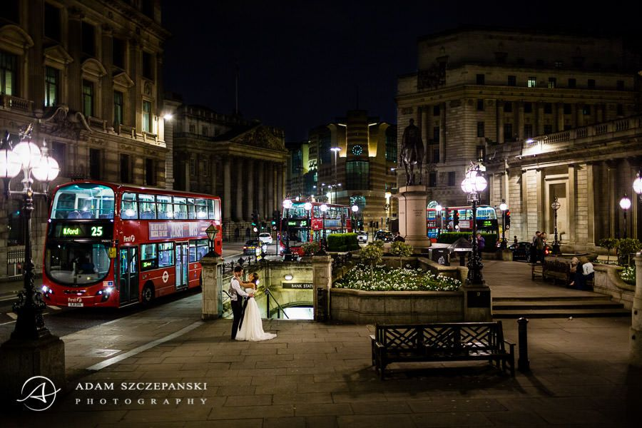 wedding photography session on the streets of london city