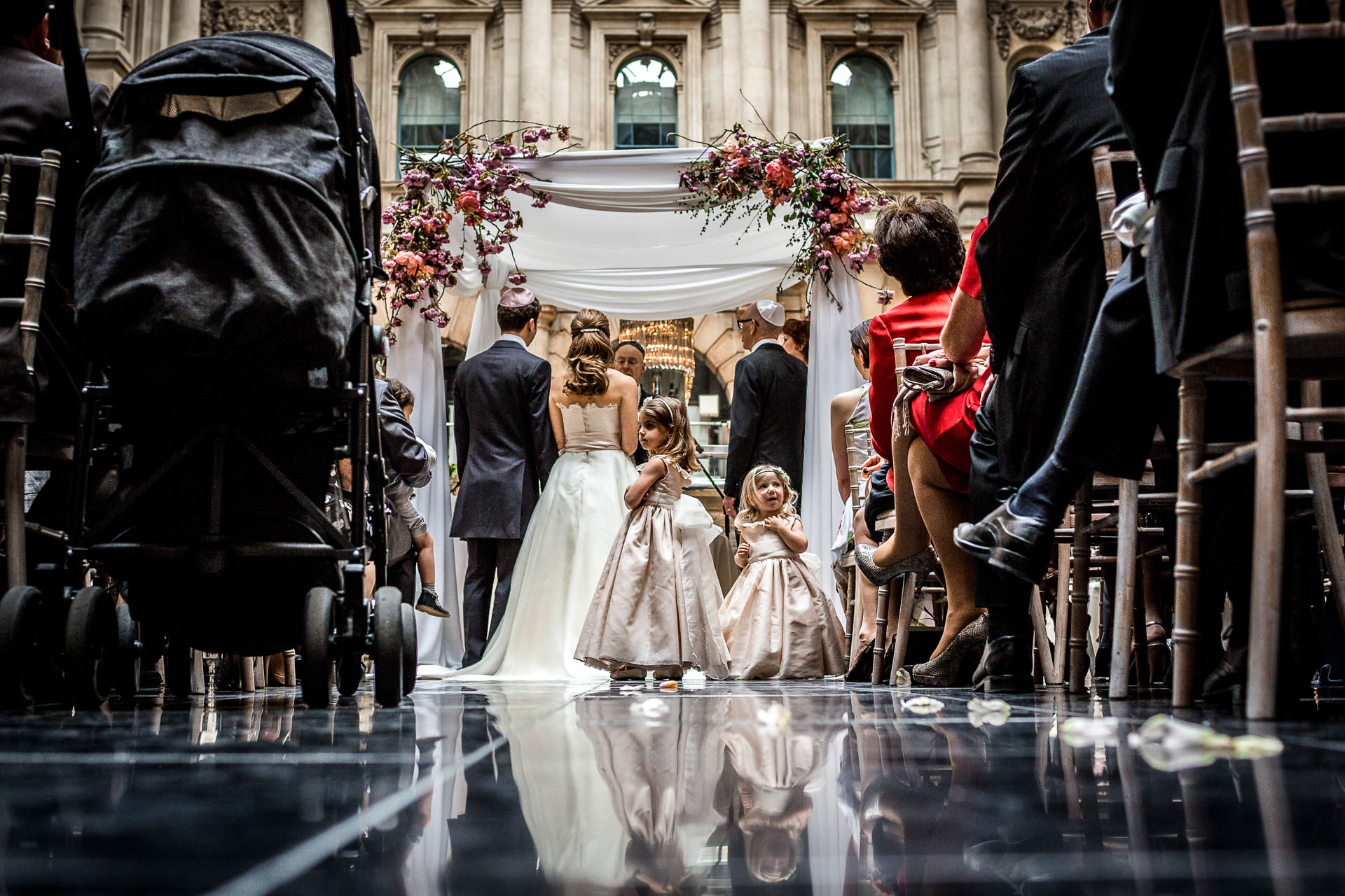 Royal Exchange London wedding photographer wedding ceremony